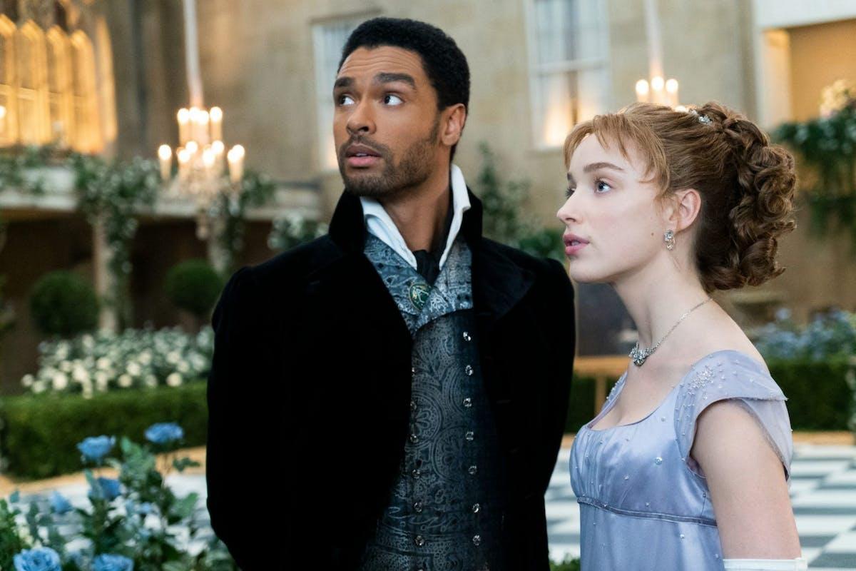 Simon and Daphne in Bridgerton on Netflix
