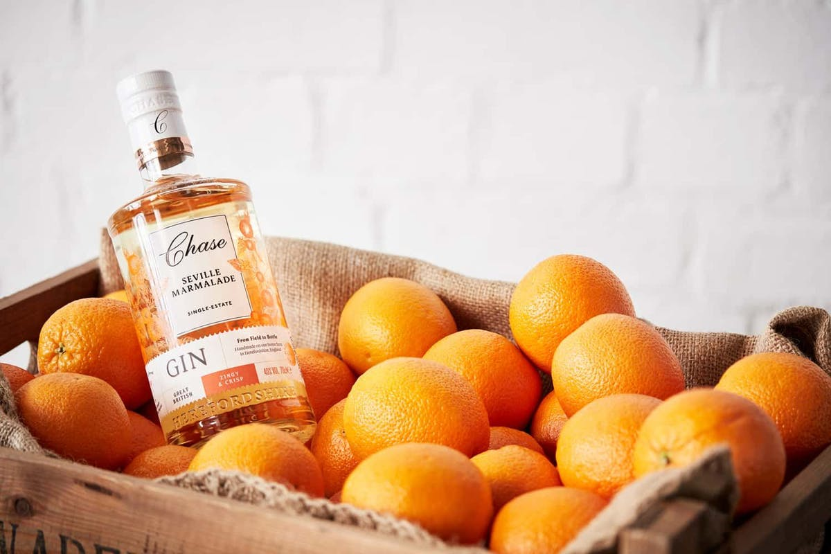 Orange-flavoured gin