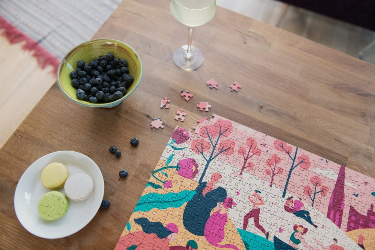 A jigsaw puzzle for adults