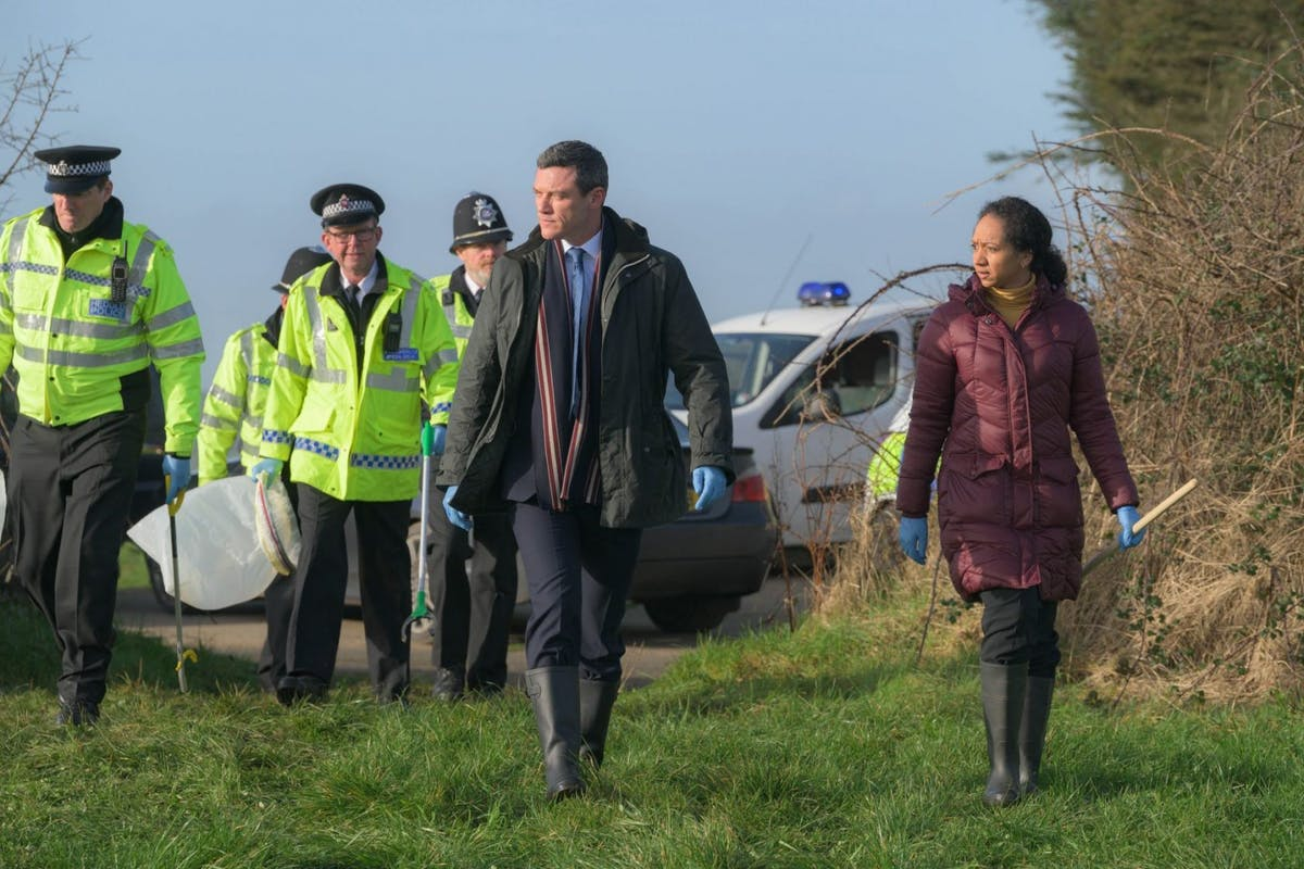 The Pembrokeshire Murders on ITV: Luke Evans as DS Steve Wilkins and Alexandria Riley as DI Ella Richards.