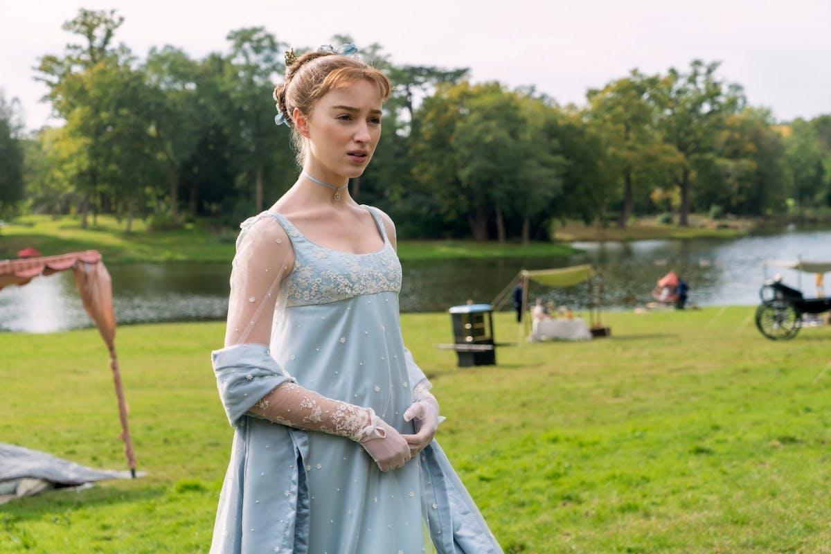 Phoebe Dynevor as Daphne in Netflix's Bridgerton