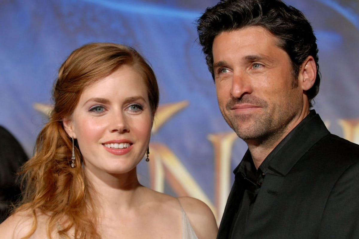 """Disenchanted: Amy Adams and actor Patrick Dempsey arrives at the premiere of """"Enchanted"""" held in Hollywood, California on November 17, 2007."""