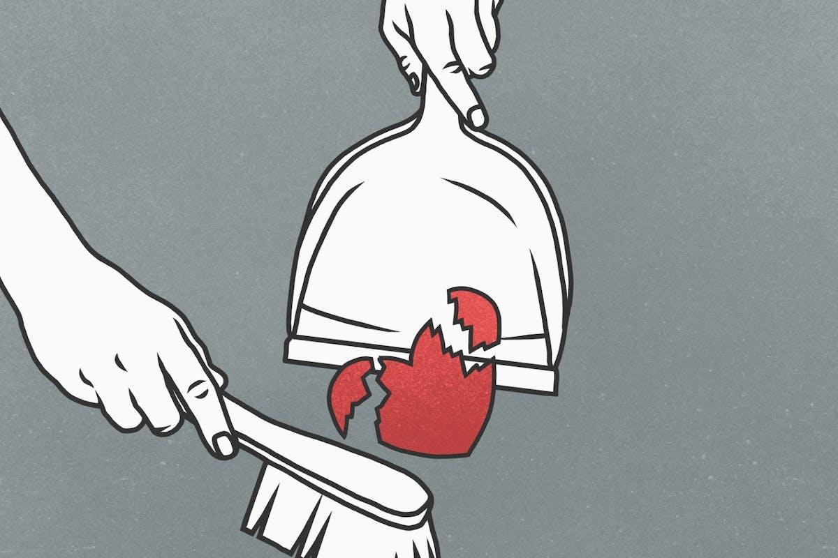 Sweeping up a broken heart