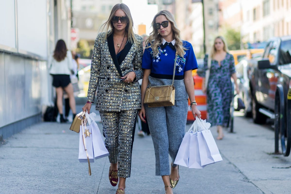 Street style with shopping