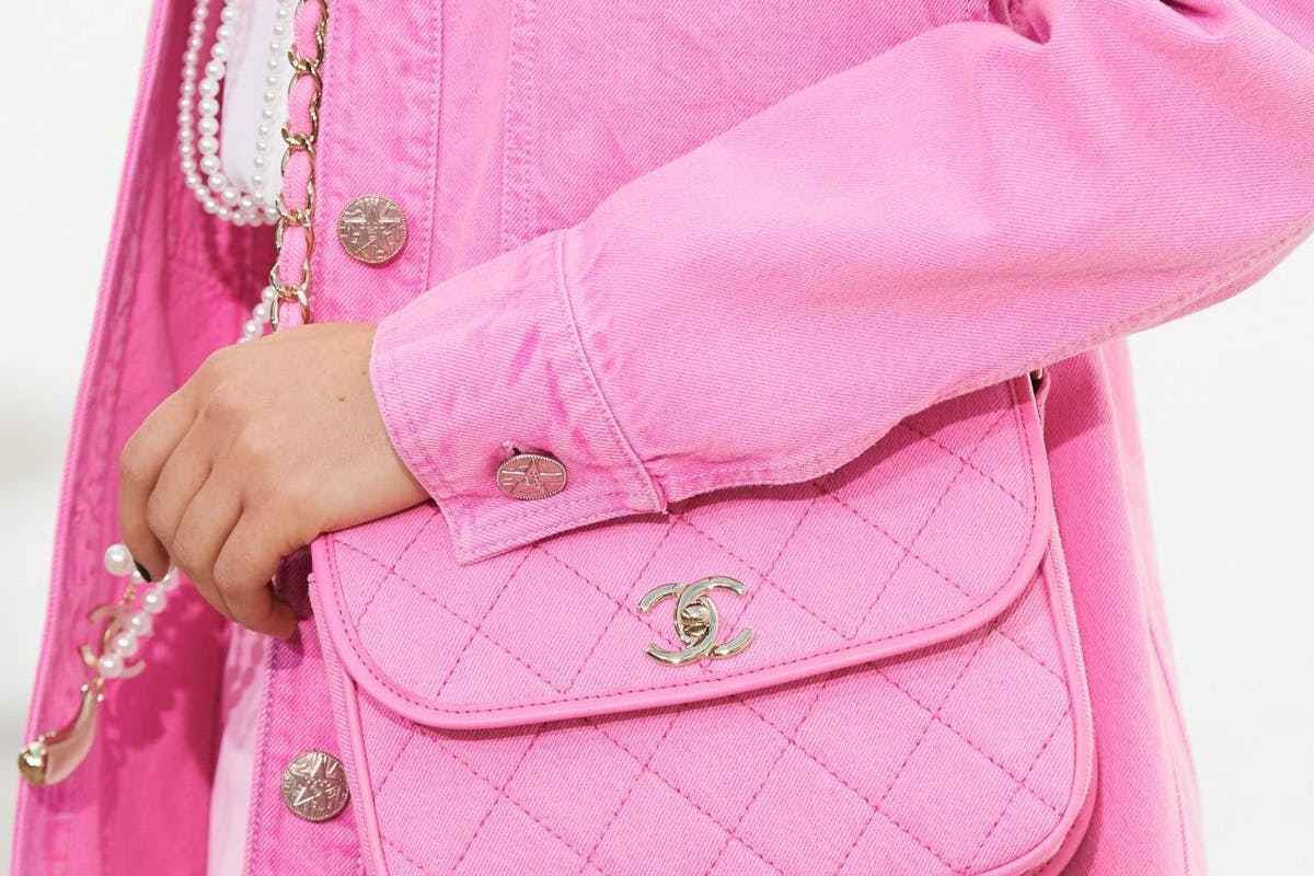 Chanel spring summer 2021 details shot pink handbag