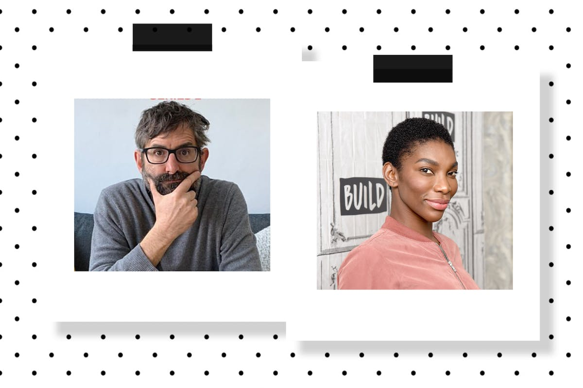 Louis Theroux and Michaela Coel