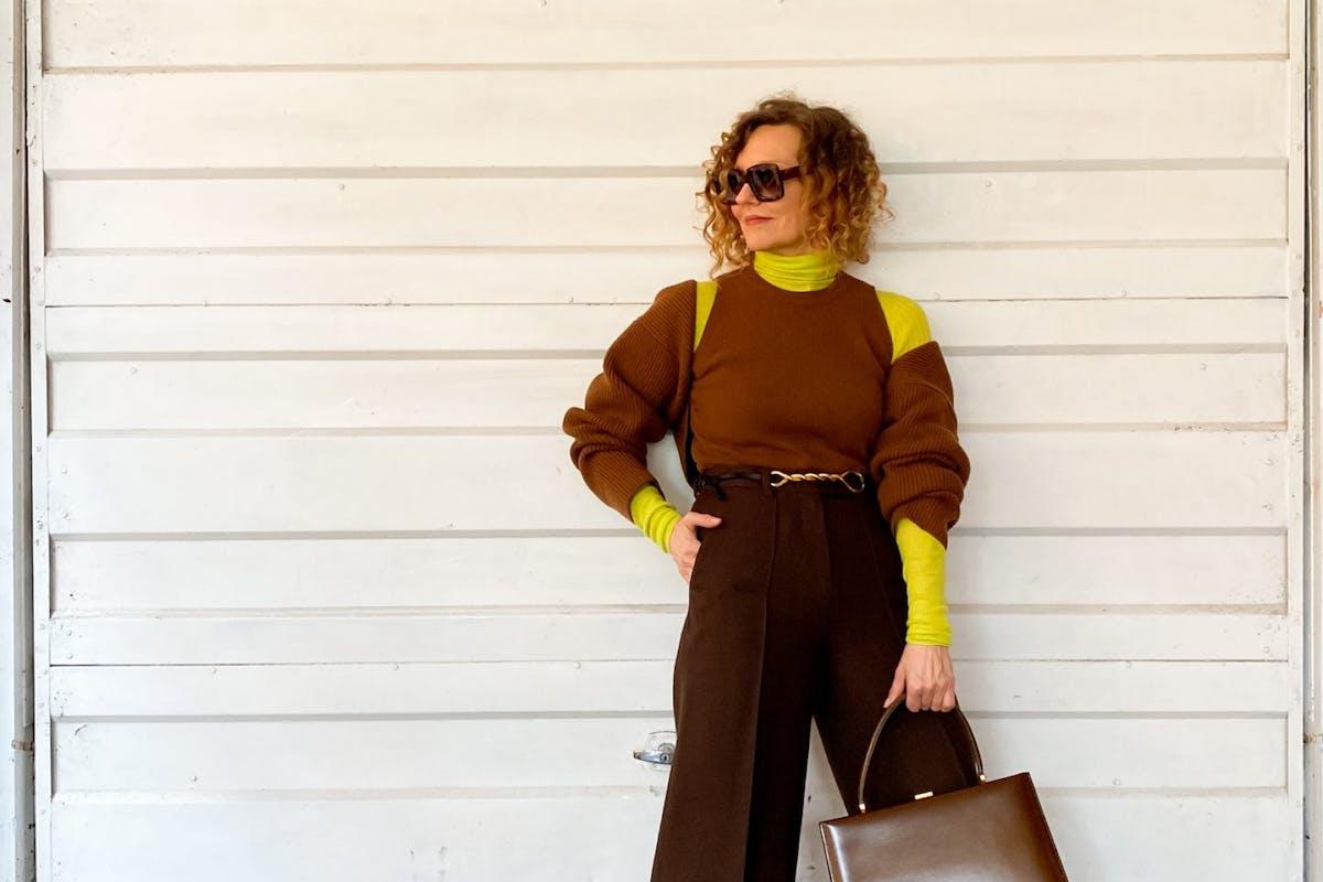 Street style wearing cut-out jumper