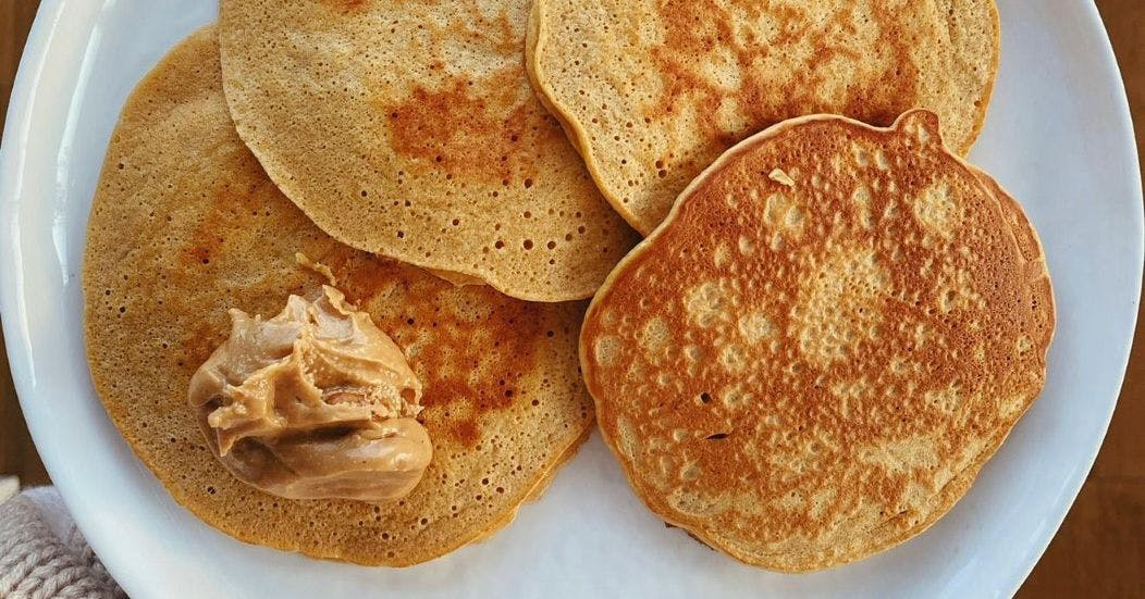 This protein pancake recipe from Alice Liveing is deliciously simple