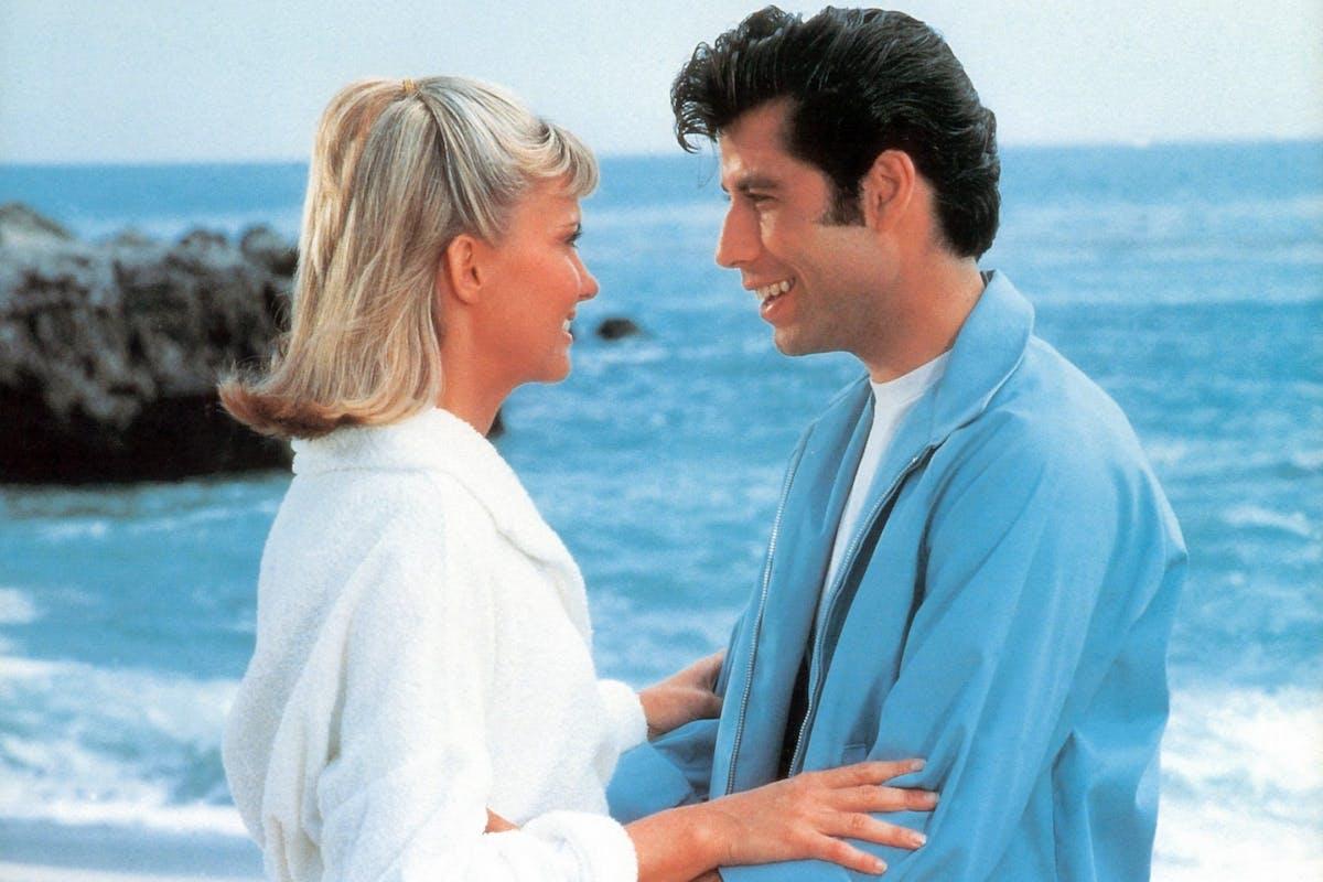 Sandy (Olivia Newton John) and Danny (John Travolta) in Grease