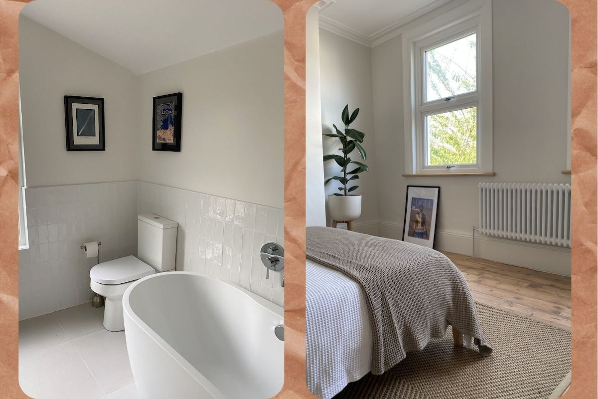 Before and after pictures of Victorian terrace renovation