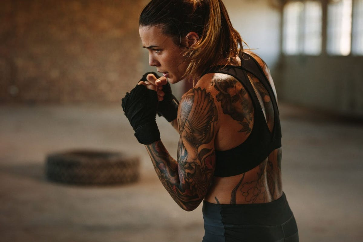 Shadow boxing - boxing with no bag or pads - is great to build strength from home
