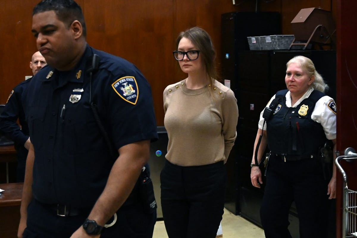 Anna Sorokin better known as Anna Delvey, the 28-year-old German national, whose family moved there in 2007 from Russia, is seen in the courtroom during her trial at New York State Supreme Court in New York on April 11, 2019.