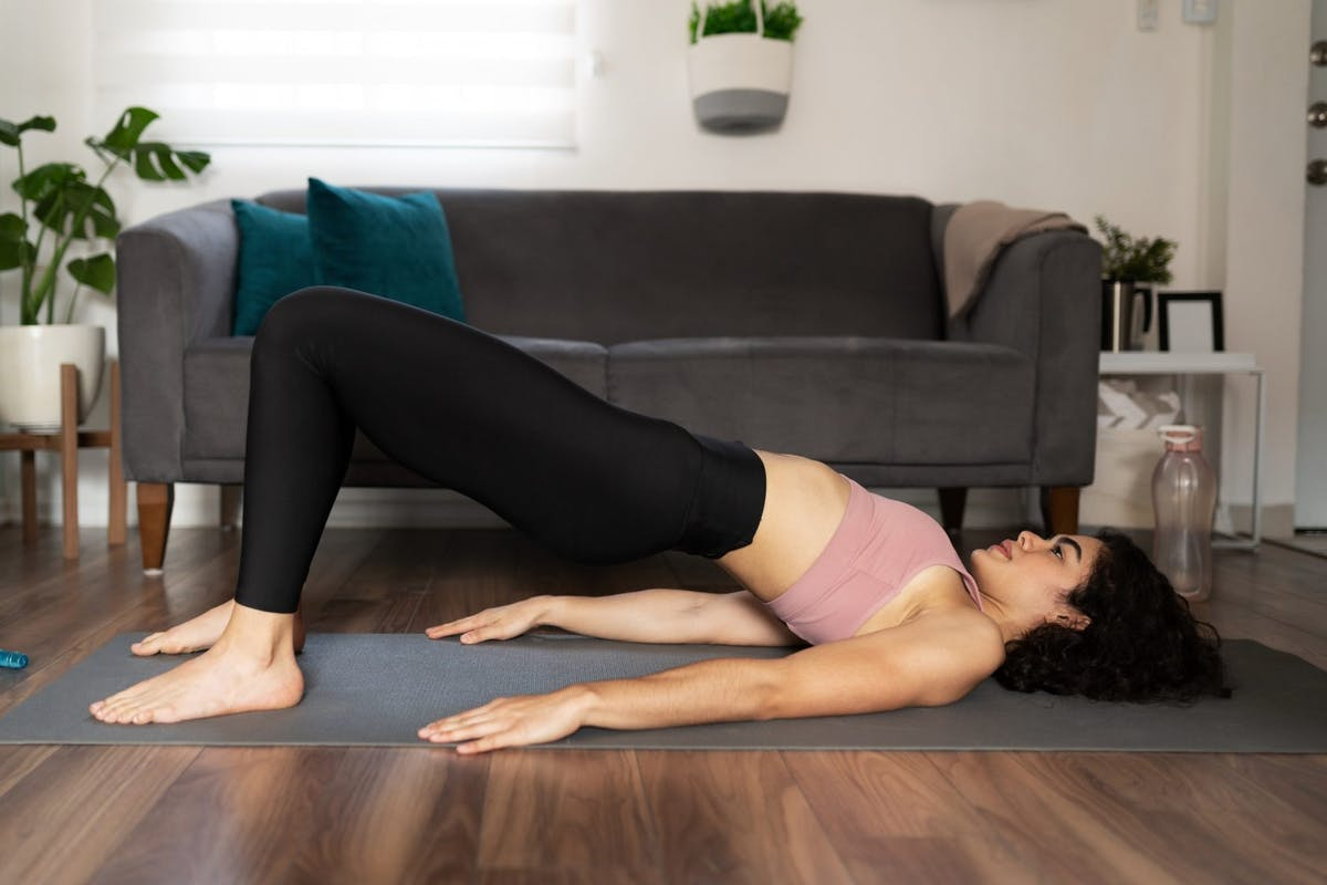 Glute bridge variations can target the hamstrings using just your bodyweight