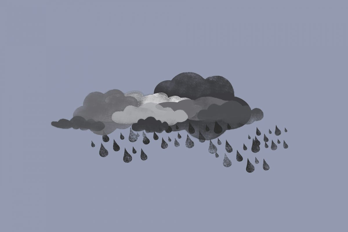 A storm cloud to symbolise depression
