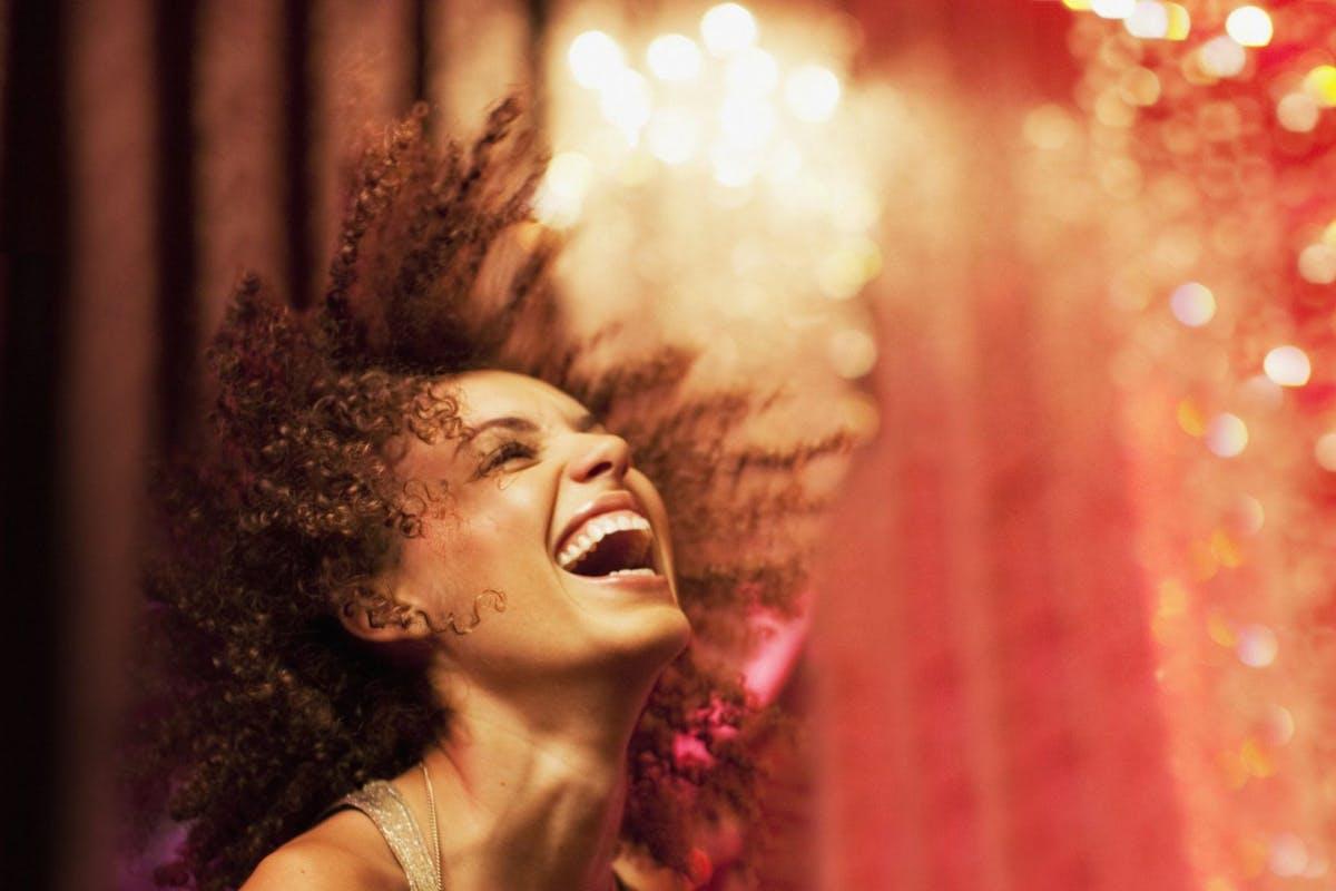 Woman dancing in club