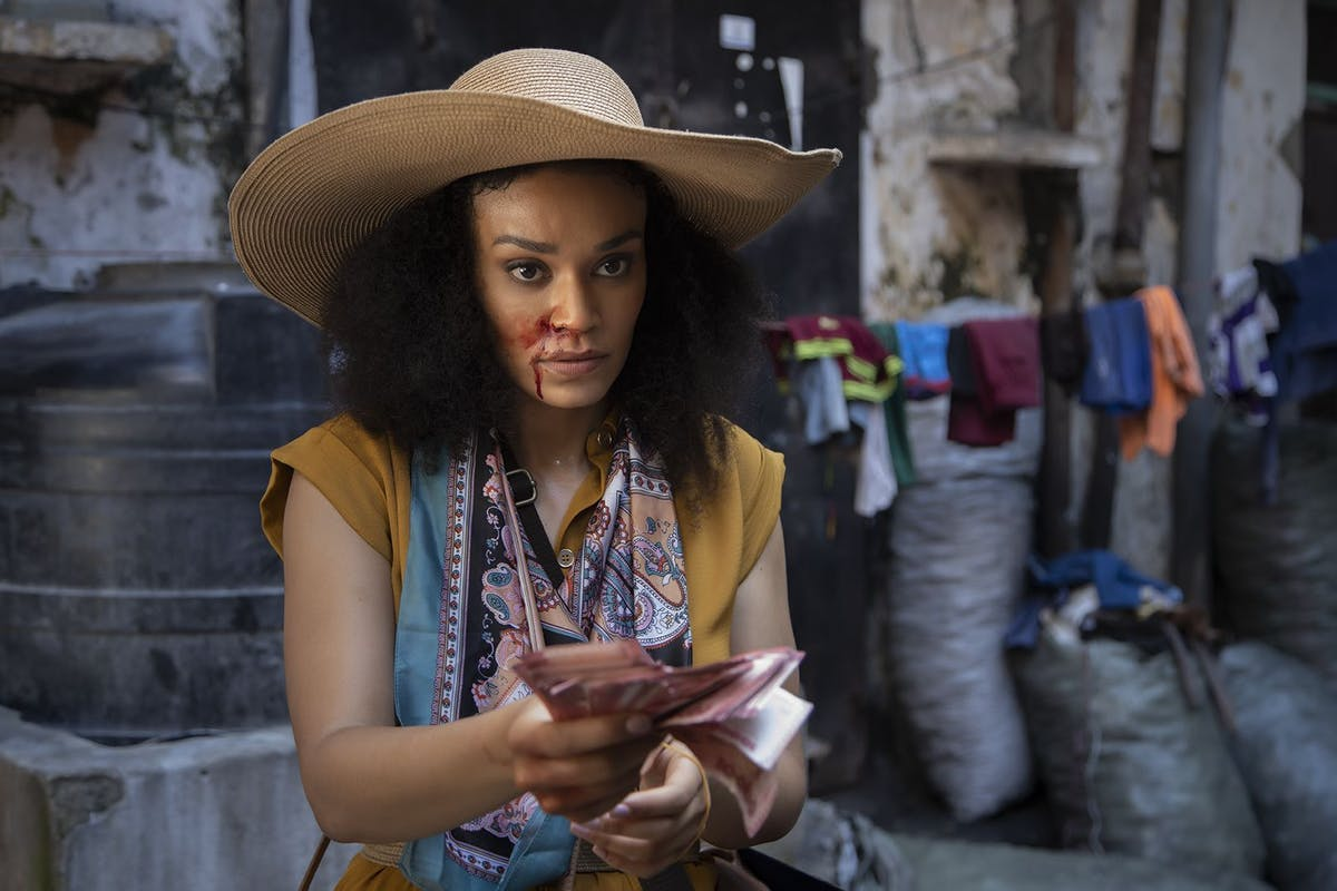 Production stills from the set of Netflix Queen Sono with Pearl Thusi, directed by Kagiso Lediga. Credit: Chris Duys / Netflix