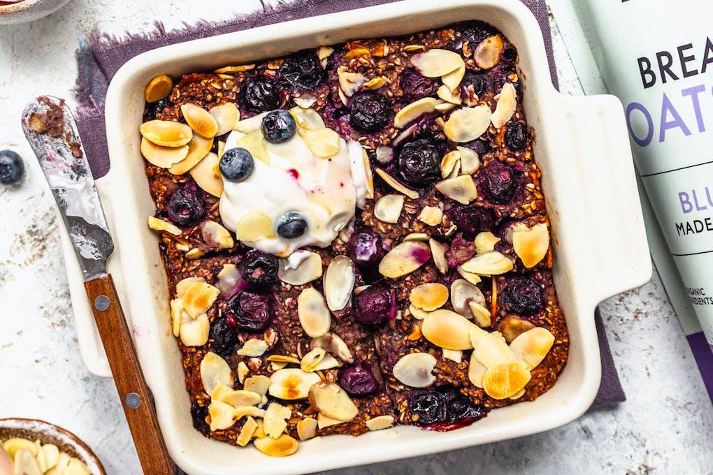 Blueberry pie baked oats recipe