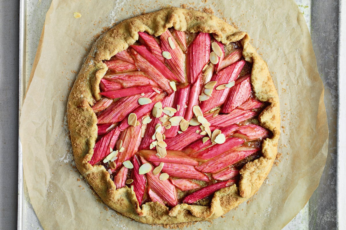 rhubarb and frangipane galette recipe