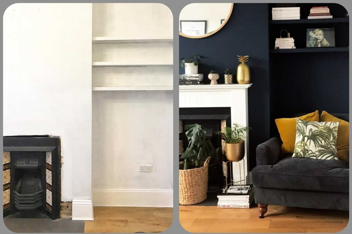Monochrome living room renovation