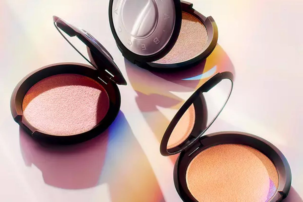 Three compacts of Becca's Shimmering Skin Perfector Pressed Highlighter