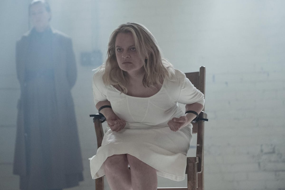 Elisabeth Moss as June/Offred in The Handmaid's Tale