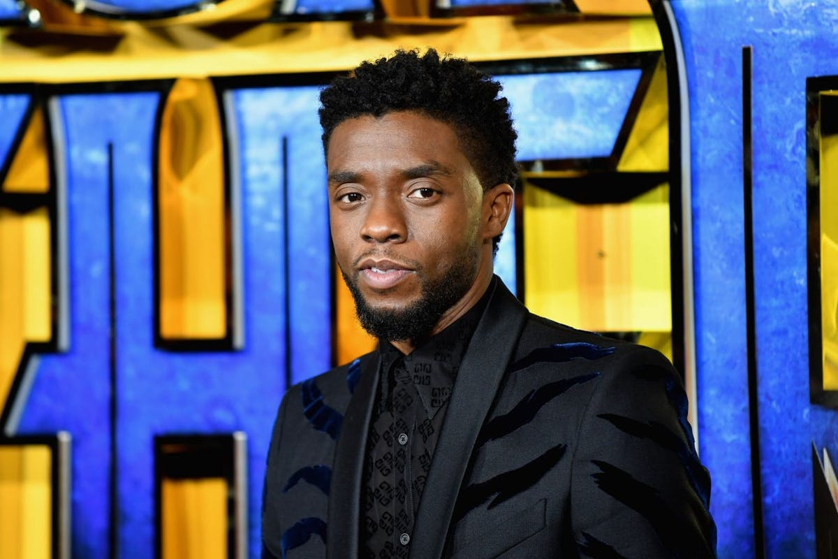 """Chadwick Boseman attends the European Premiere of Marvel Studios' """"Black Panther"""" at the Eventim Apollo, Hammersmith on February 8, 2018 in London, England. (Photo by Gareth Cattermole/Getty Images for Disney)"""