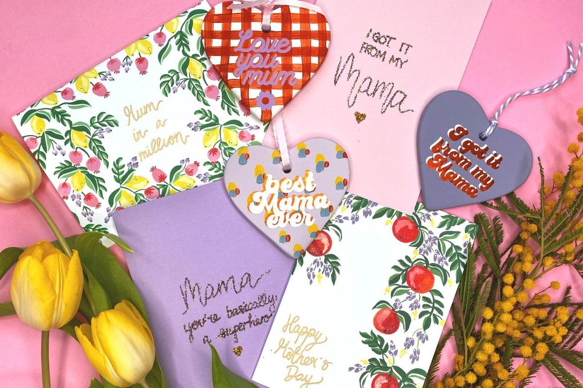 Cards and presents for Mother's Day