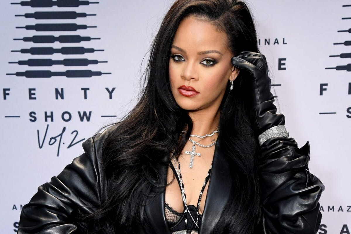 Rihanna attends the second press day for Rihanna's Savage X Fenty Show Vol. 2 presented by Amazon Prime Video at the Los Angeles Convention Center in Los Angeles, California