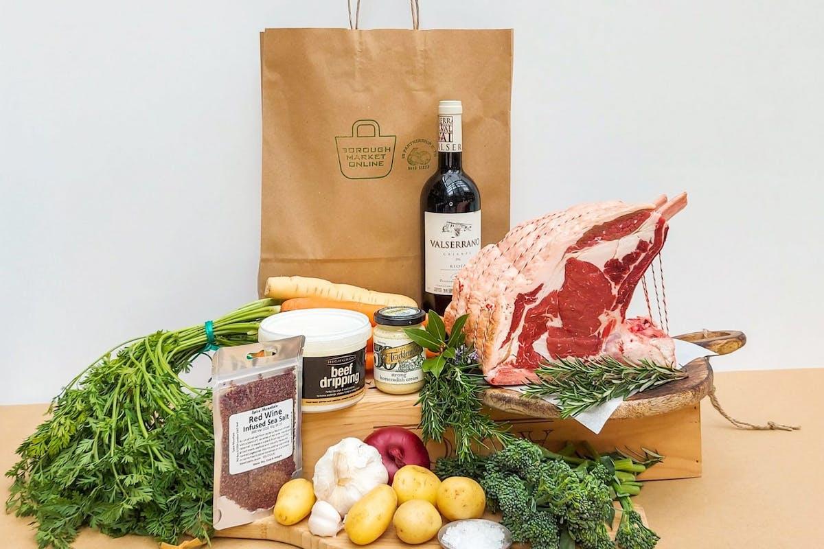 Food box with fresh produce