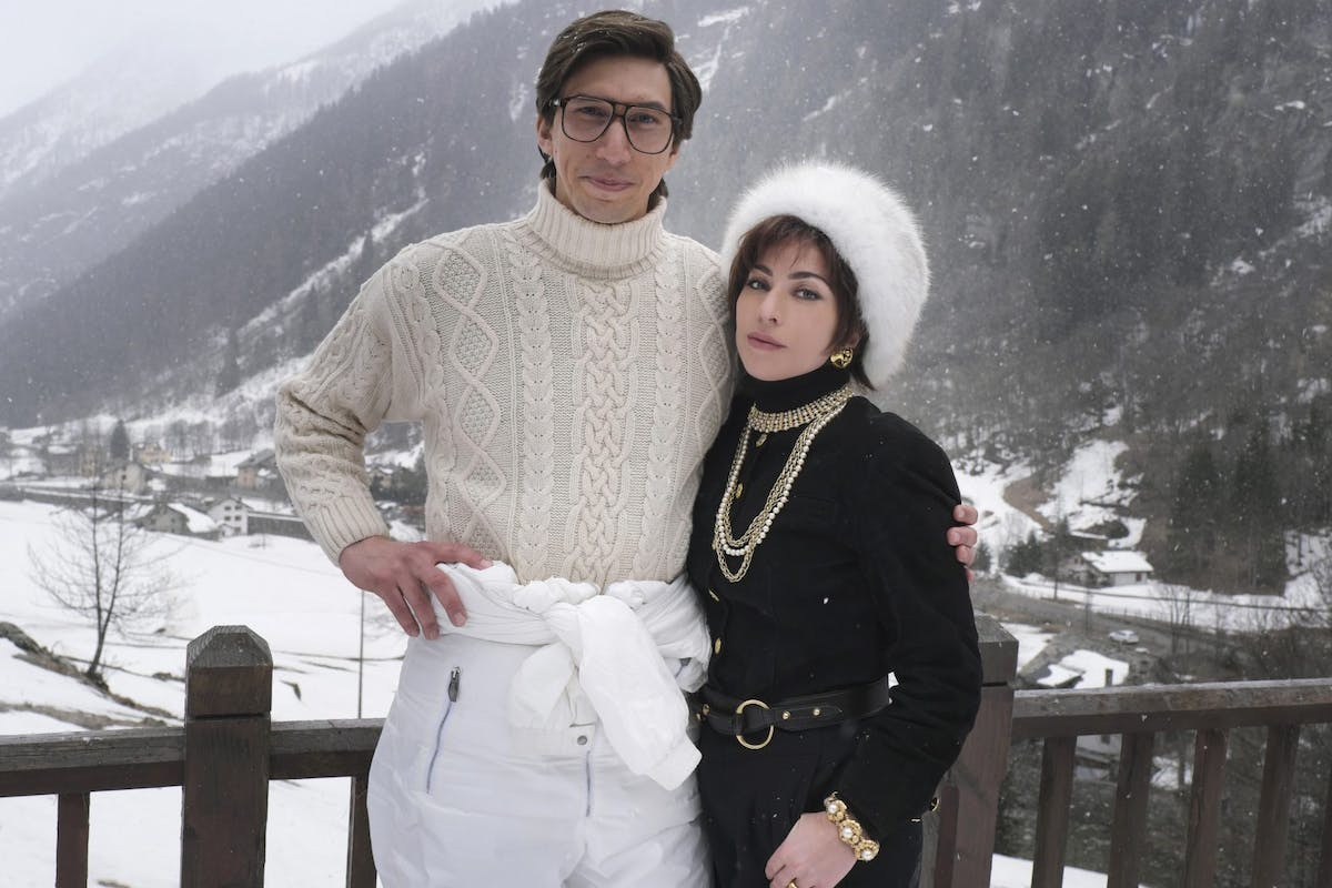 Adam Driver and Lady Gaga in House Of Gucci