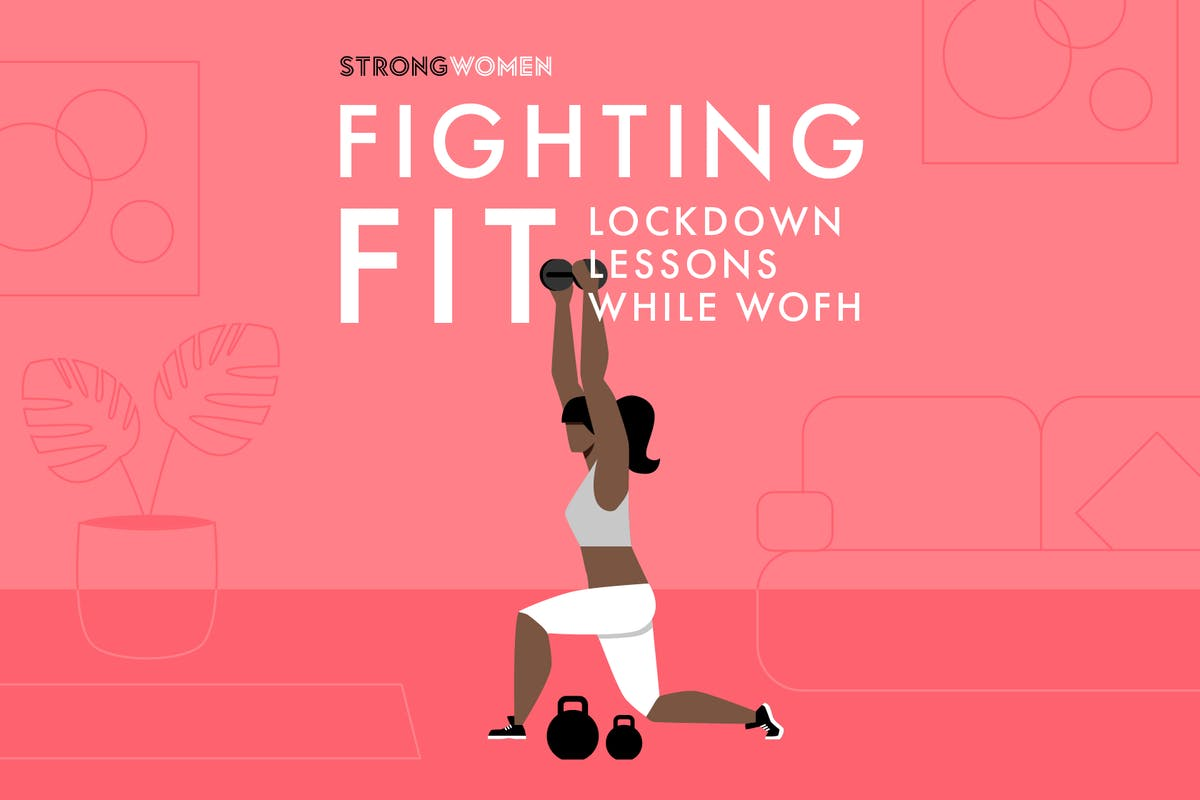 logo for Strong Women's fighting fit lockdown lessons while working out from home