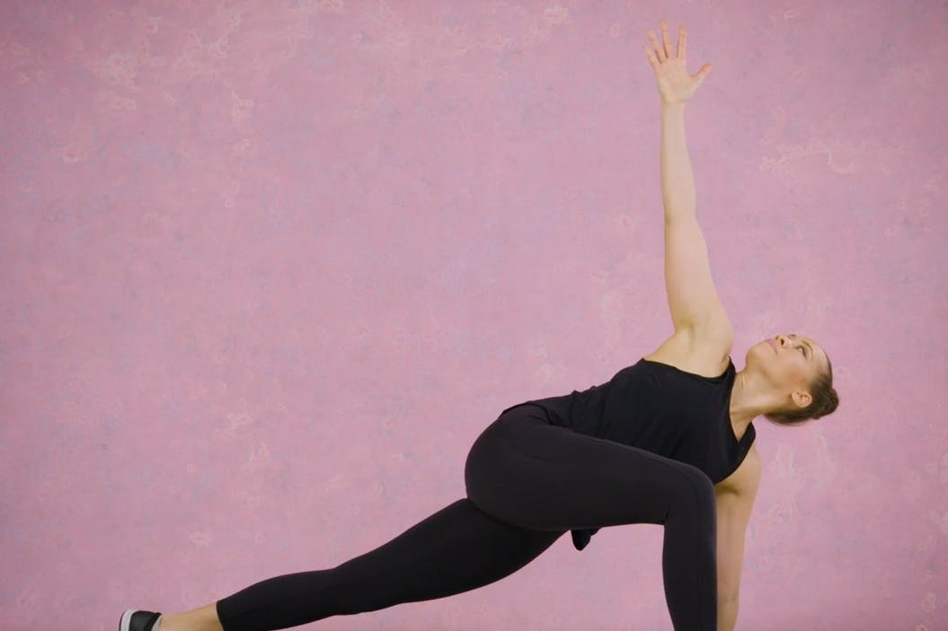 Emma Obayuvana demonstrates the world'ss greatest stretch as part of a mobility challenge