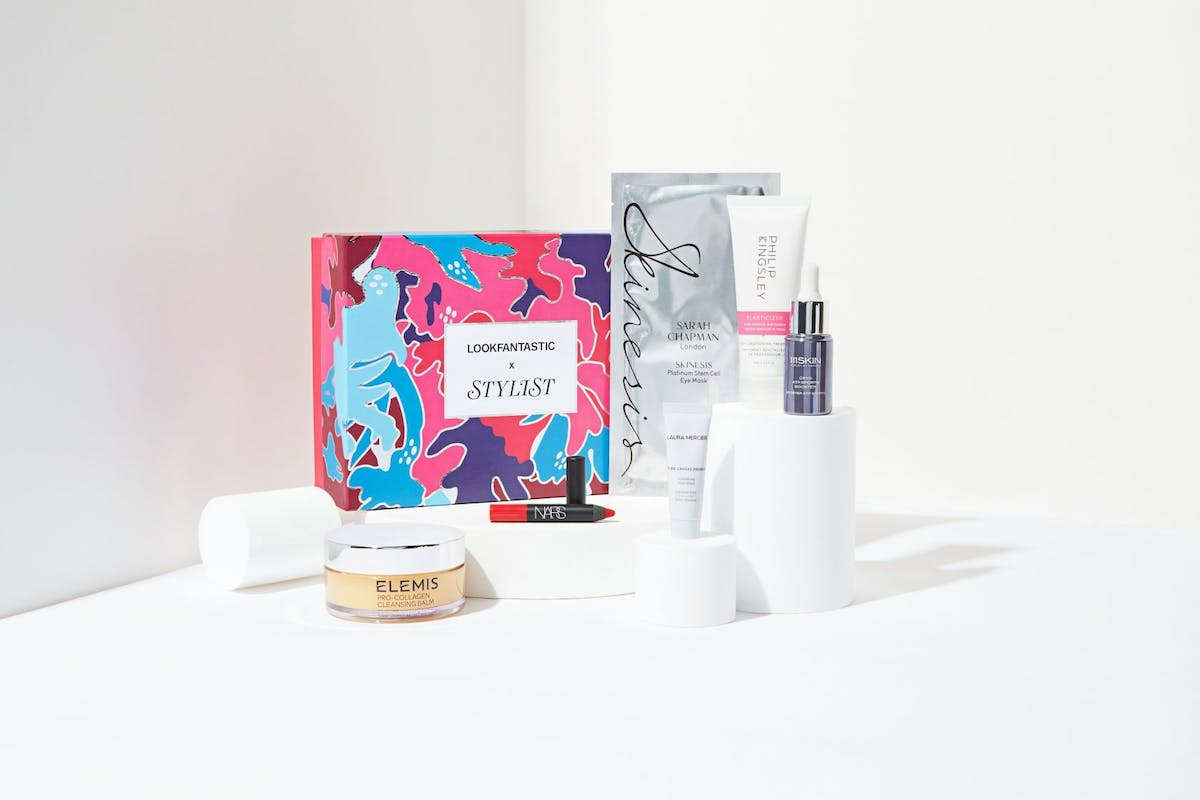 Lookfantastic x Stylist limited edition beauty box contains a curated edit of hard-working beauty products for the skin, hair and lips