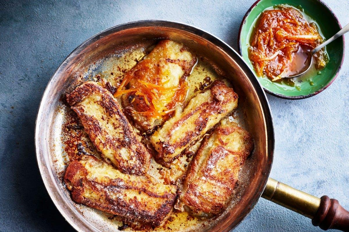 torrijas recipe with orange sauce