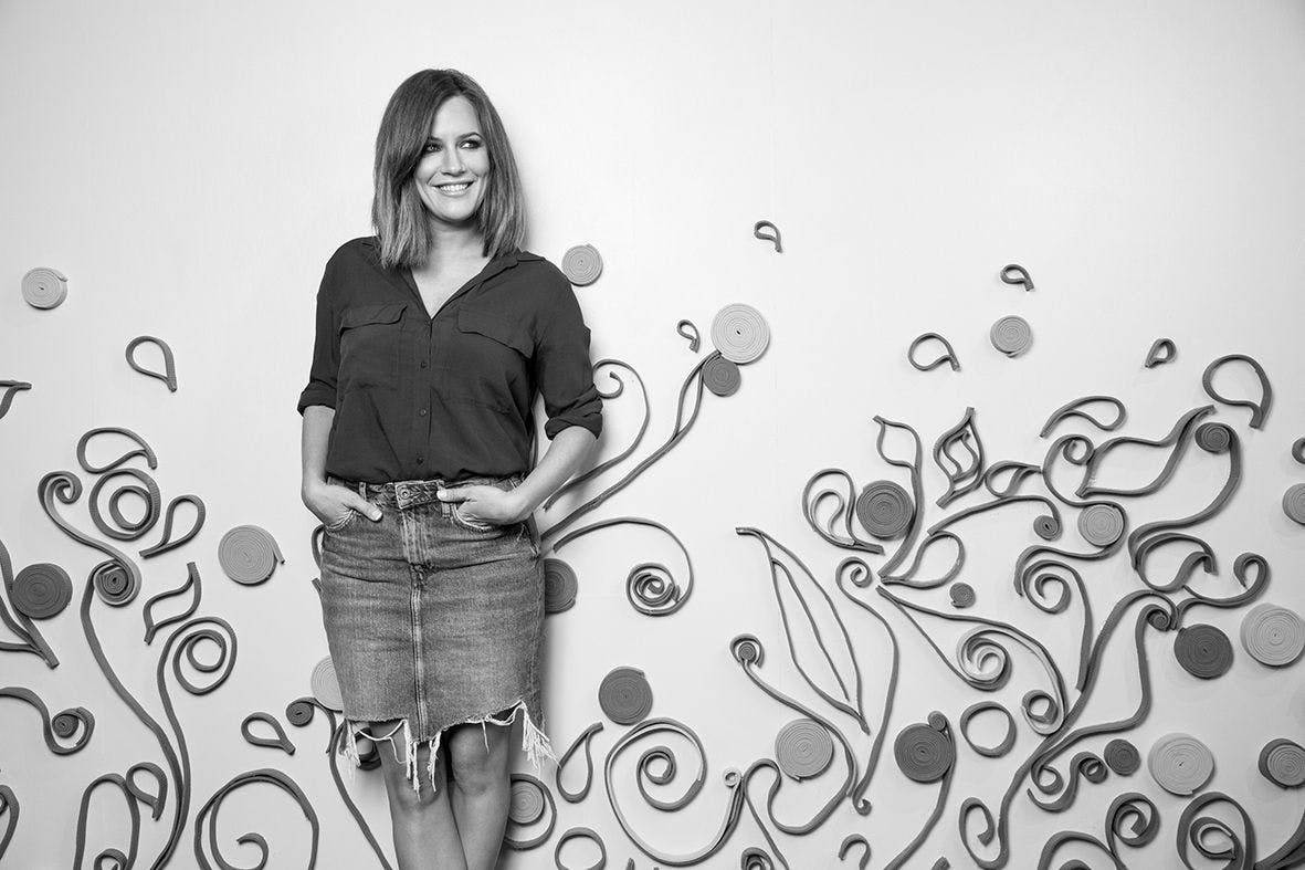 Caroline Flack poses for pictures at the opening of the Zeo Dry Bar in Old Street on April 27, 2017 in London, England.Heathy soft drink brand Zeo is hosting a dry bar in Old Street for six weeks where visitors can enjoy a free range of activities including colouring in sessions, VOGA, yoga classes with Good Yoga Life and Fat Buddha Yoga, HIIT & nutrition workshops with P4 Body, Hair & Make-up styling with Bang Tidy, a Sober Curious workshop with Ruby Warrington and athleisure wear pop-ups with Style Sportif and Ilu Fitwear (Photo by Tristan Fewings/Getty Images for Zeo)
