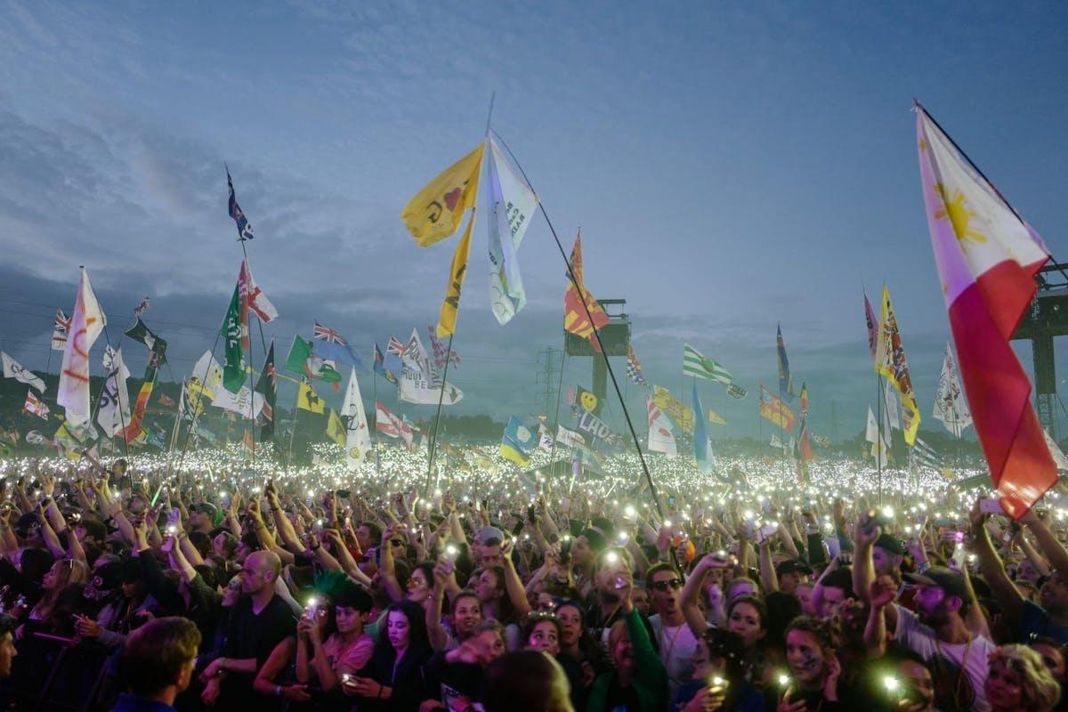 A crowd at Glastonbury festival in 2019
