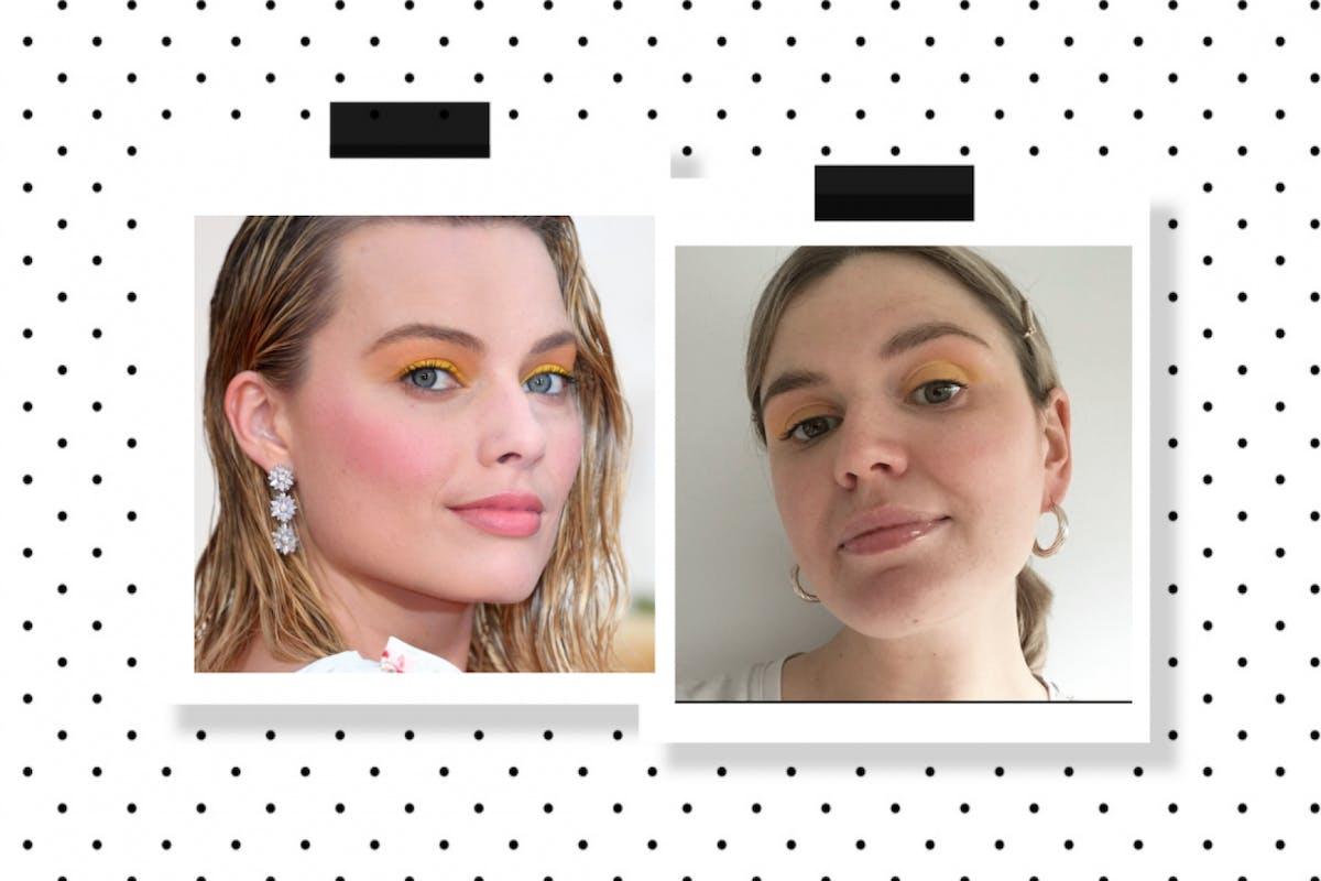 Margot Robbie's yellow eyeshadow
