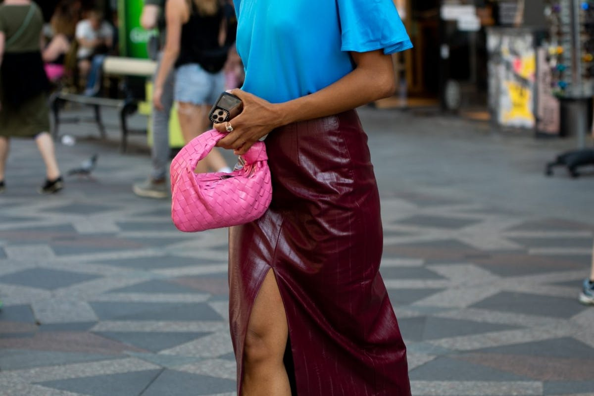 Street style wearing skirt