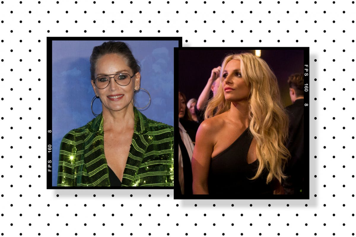 Sharon Stone and Britney Spears - comp cutout
