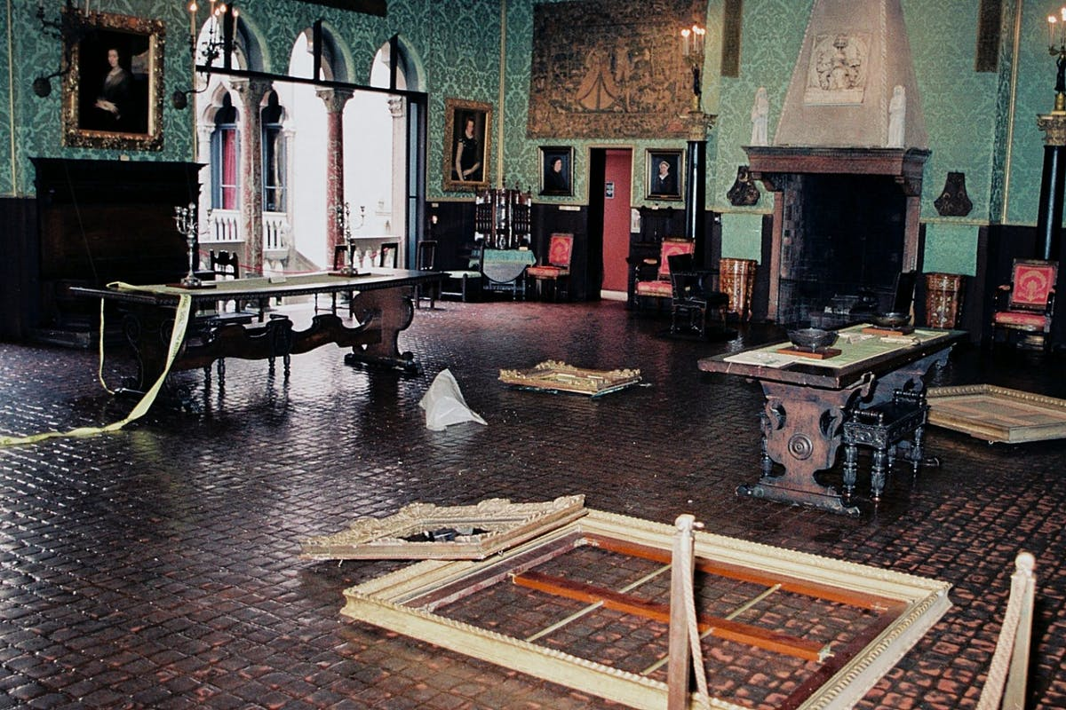 Museum crime scene