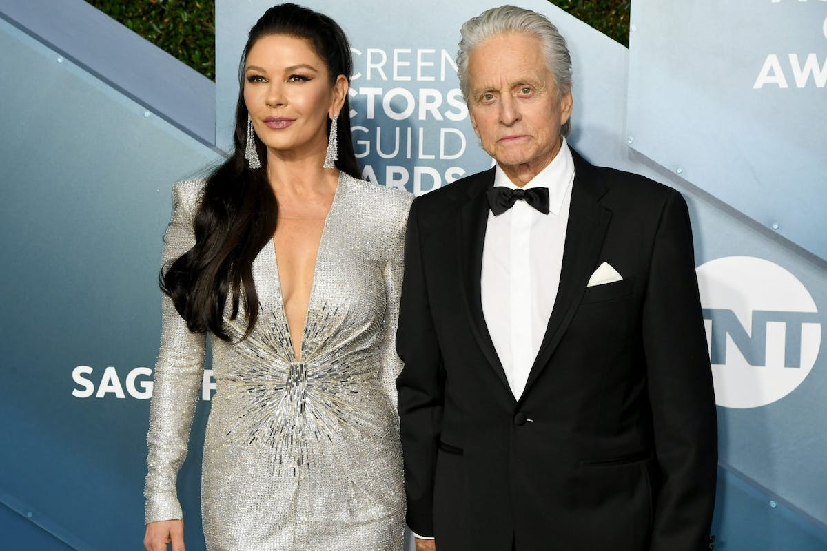 Catherine Zeta-Jones and Michael Douglas attend the 26th Annual Screen ActorsGuild Awards at The Shrine Auditorium on January 19, 2020 in Los Angeles, California.