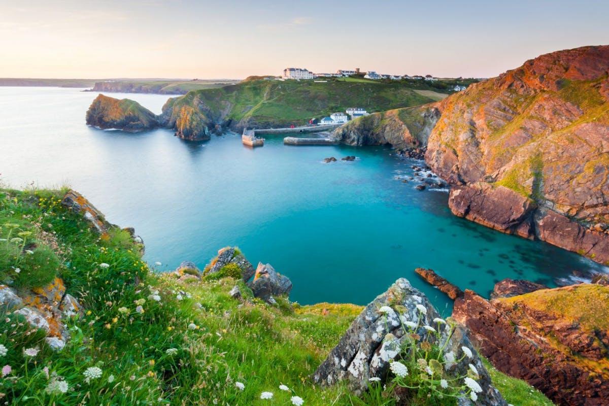 Beautiful Cornish cove and sea