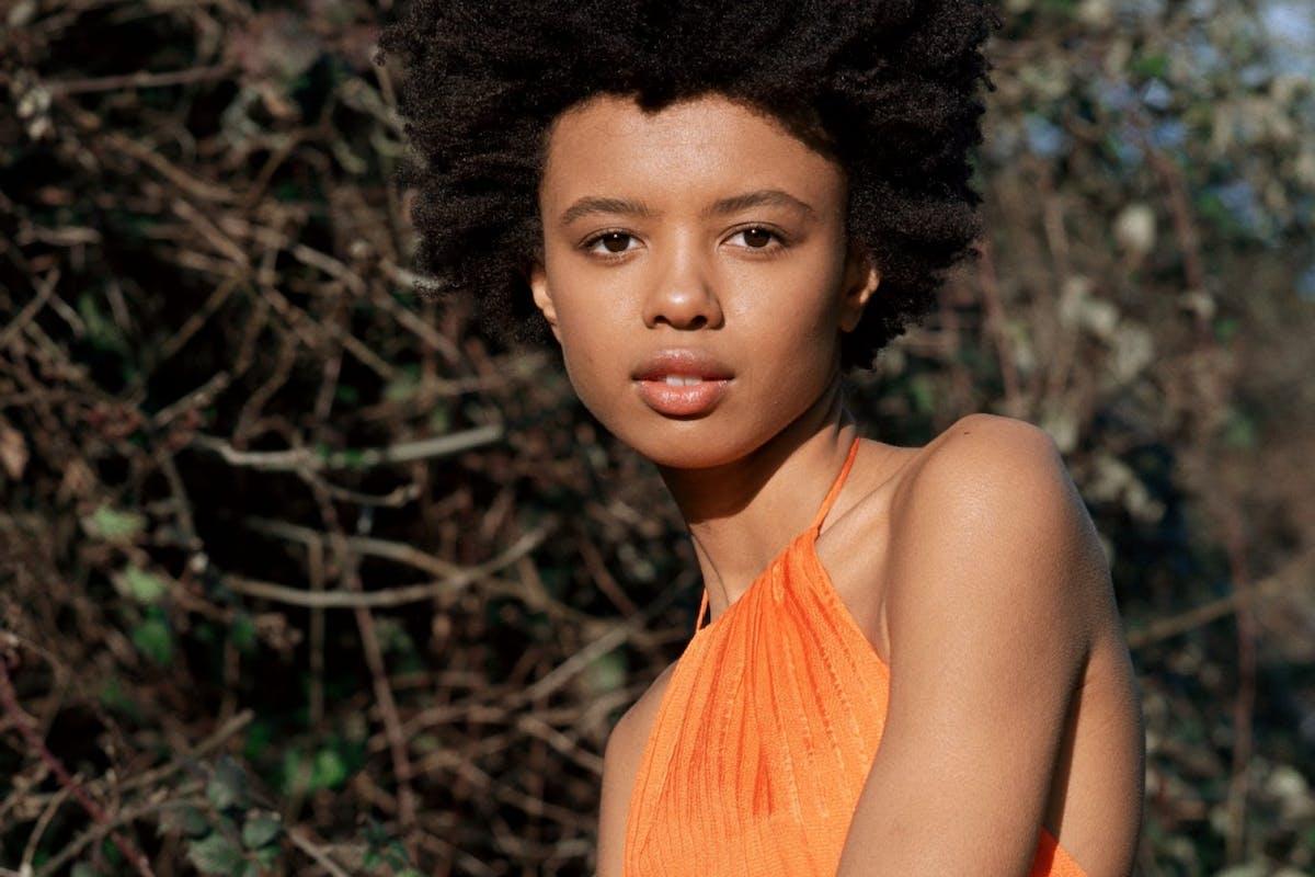 Poppy Okottcha modelling for Rejina Pyo x & Other Stories