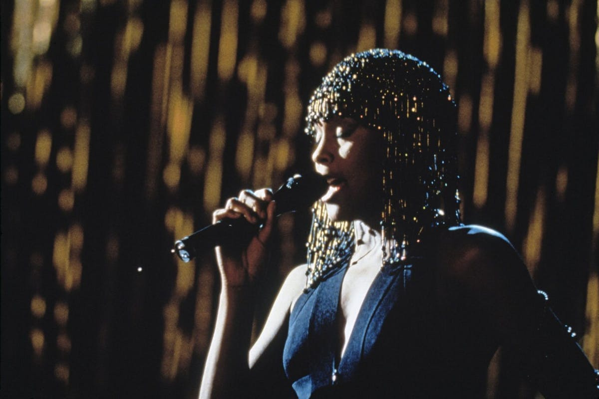 American singer and actress Whitney Houston (1963 - 2012) stars in the film 'The Bodyguard', 1992. (Photo by Fotos International/Getty Images)