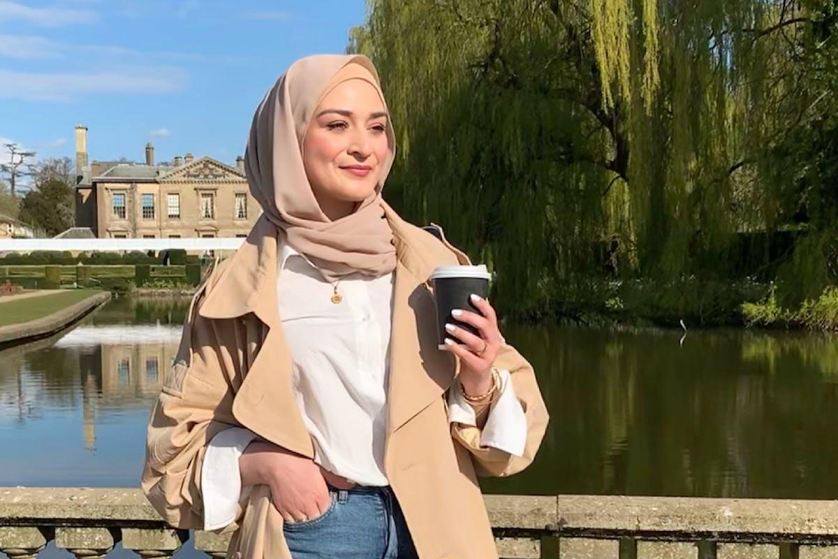 Writer Raadia Imran in a park