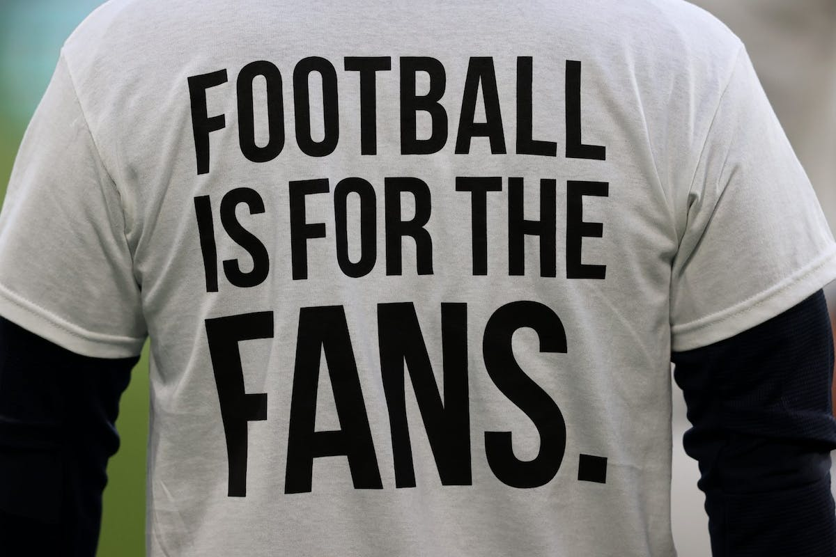 Football is for the fans t-shirts