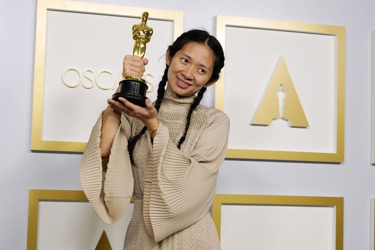Chloé Zhao at the 93rd Academy Awards