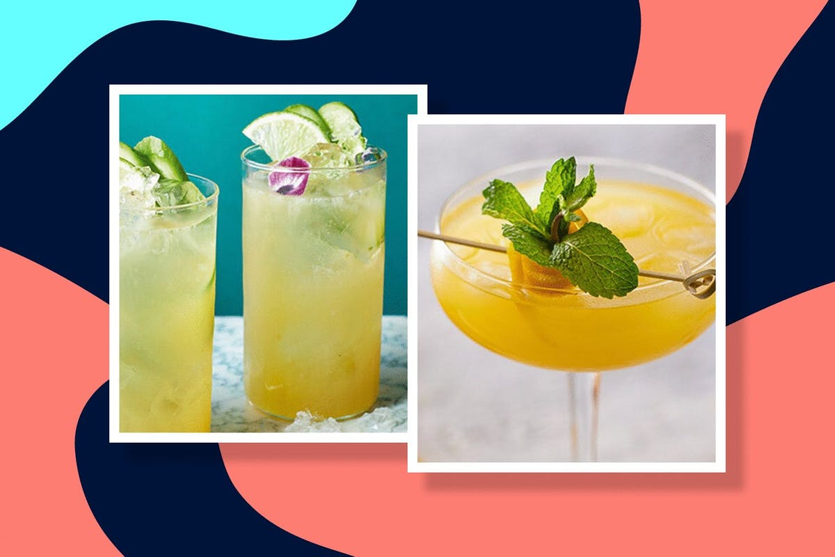 two homemade refreshing gin cocktails for summer