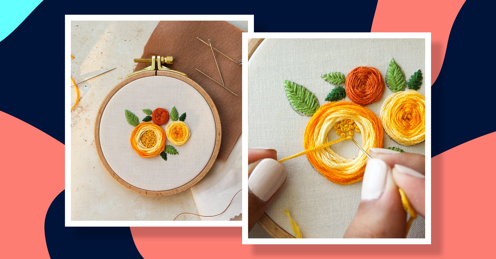 Floral embroidery design to try at home with tips from an expert