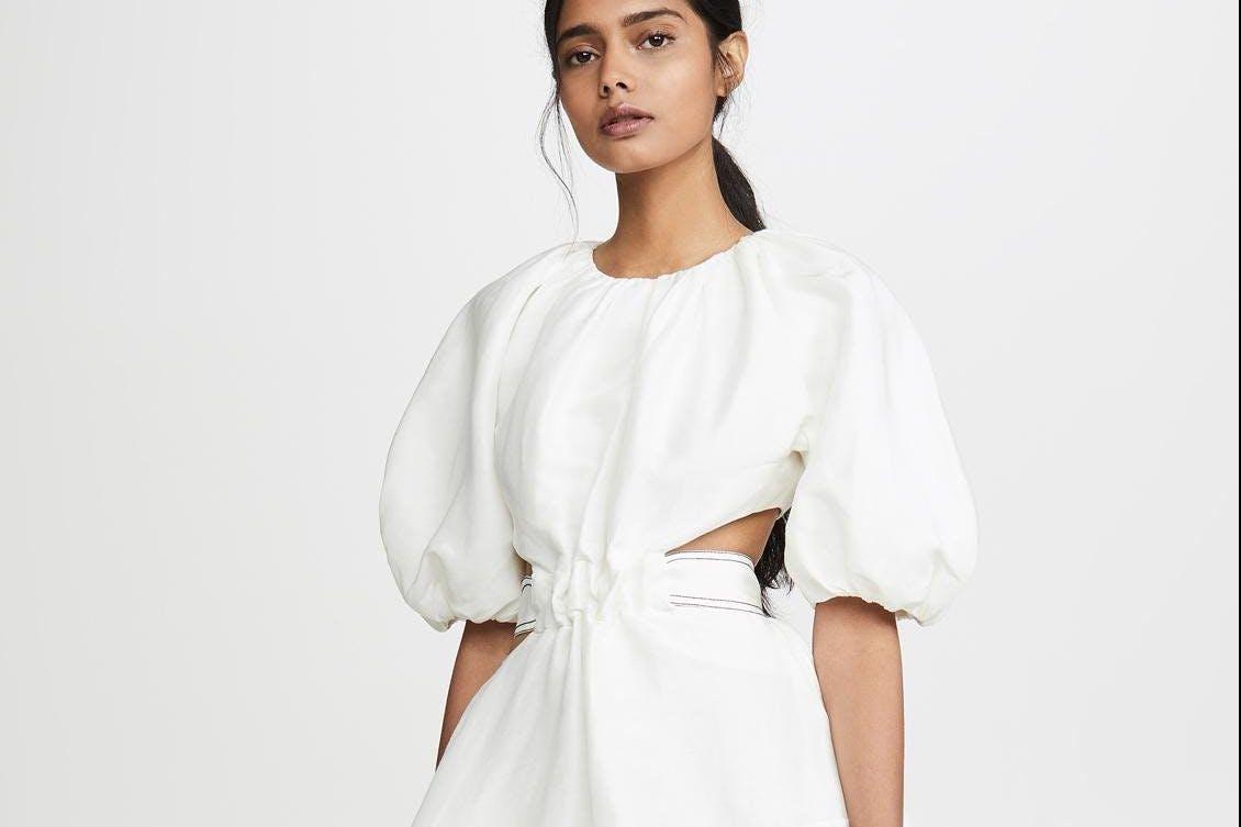 Aje Mimosa cutout dress